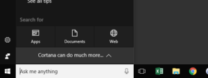 Windows 10 Search Bar